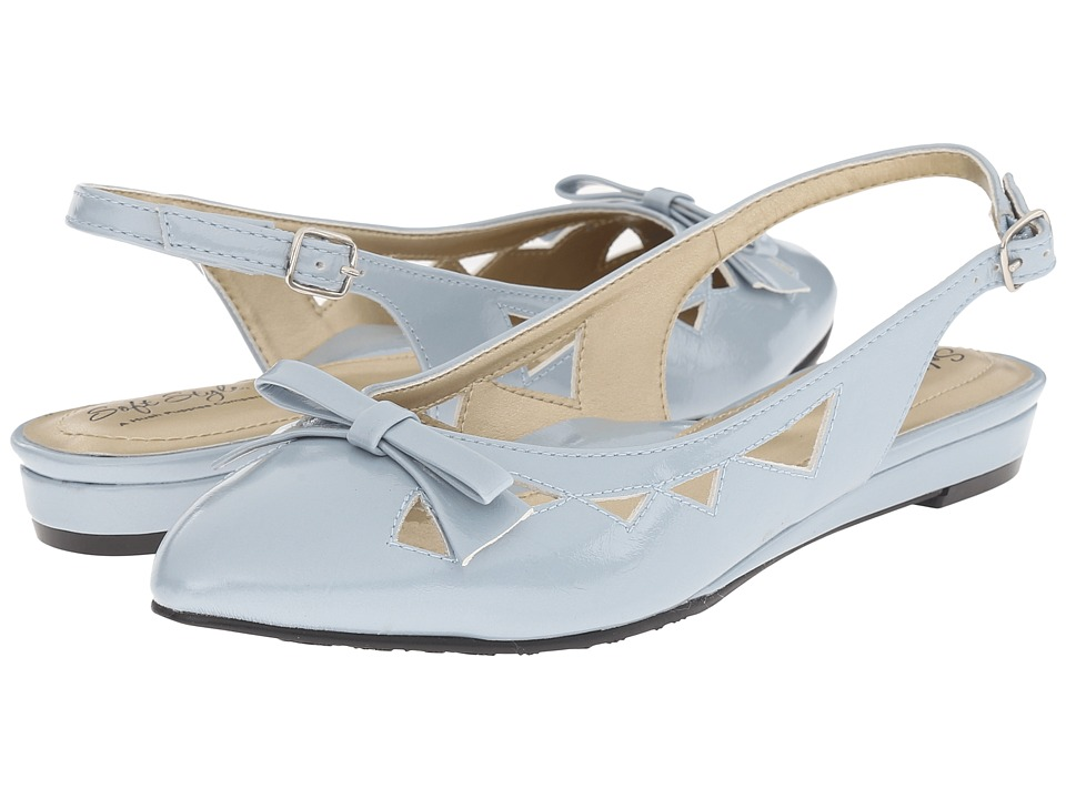 Soft Style - Deni (Blue Fog Pearlized Patent) Women's Wedge Shoes