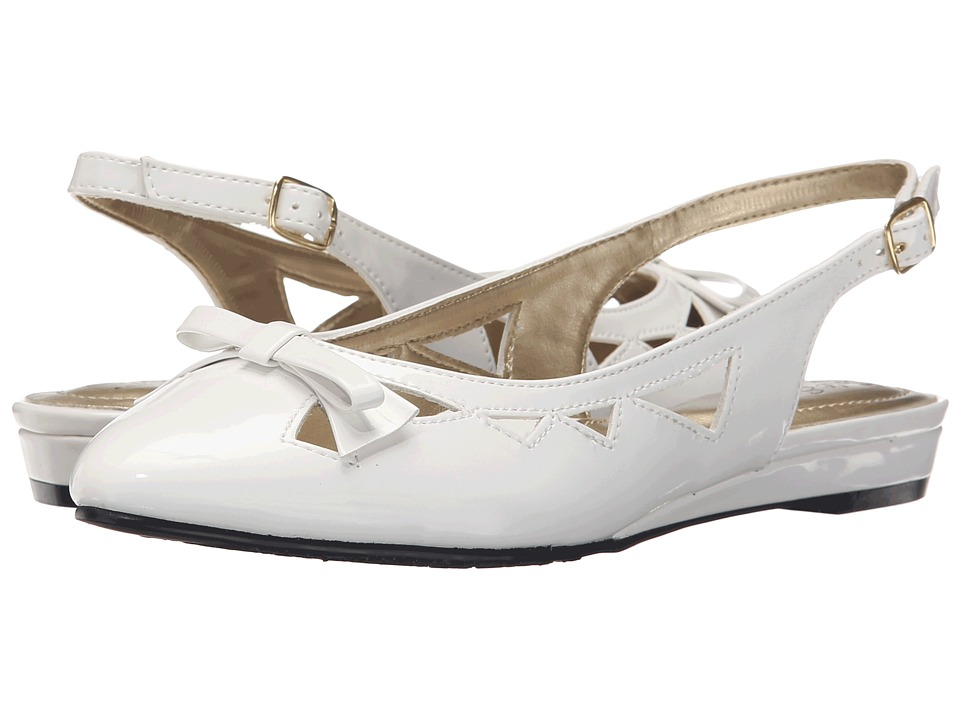 Soft Style - Deni (White Patent) Women's Wedge Shoes