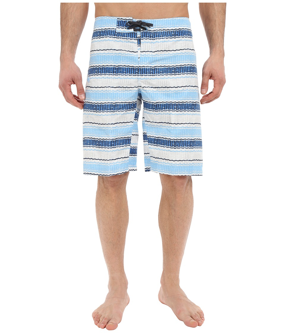 Columbia - Coast On By Boardshorts (Blue Sky Burley Stripe) Men's Swimwear