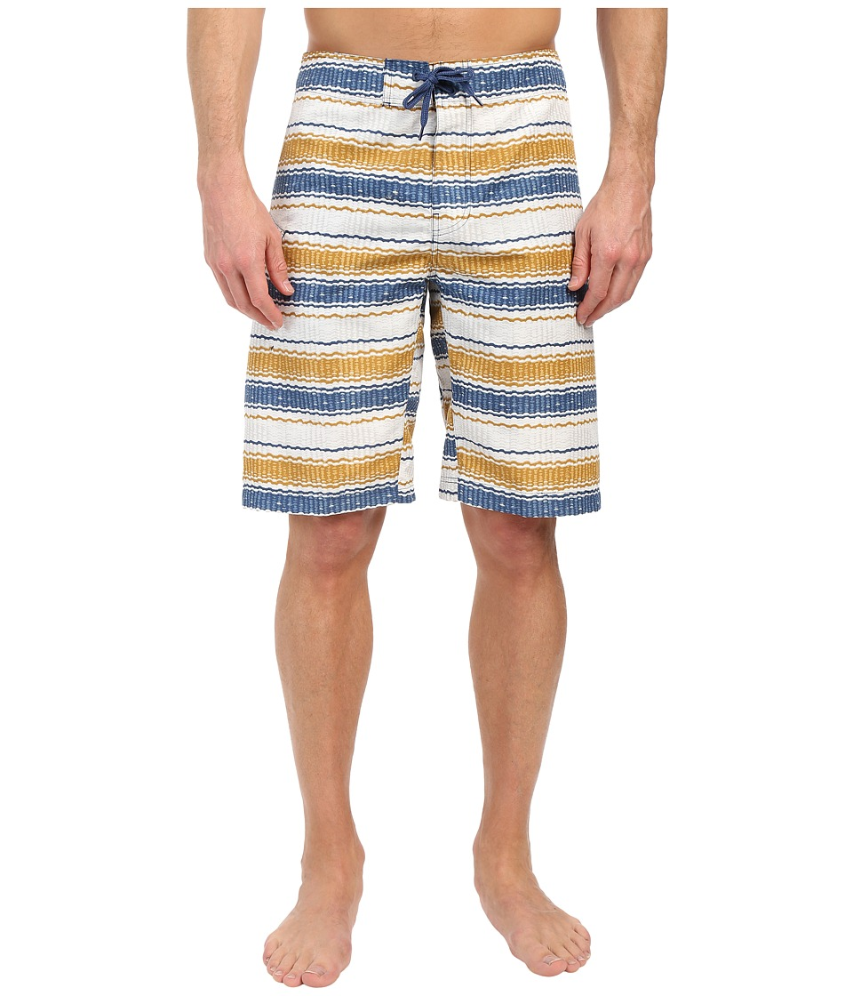 Columbia - Coast On By Boardshorts (Night Tide Burley Stripe) Men's Swimwear