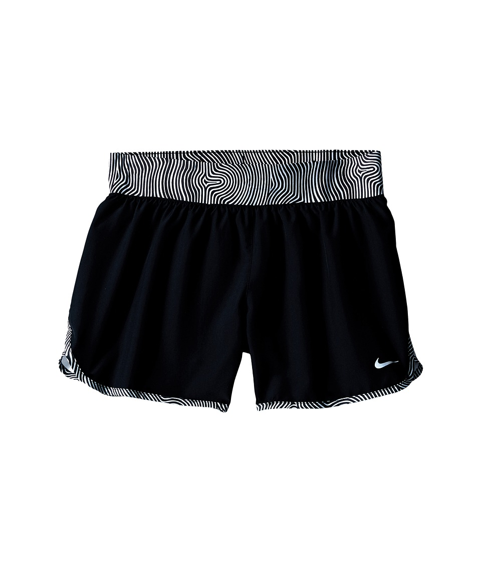 Nike Kids - Tempo Rival Allover Print 1 Short (Little Kids/Big Kids) (Black/Black/Hyper Pink/Reflective Silver) Girl's Shorts