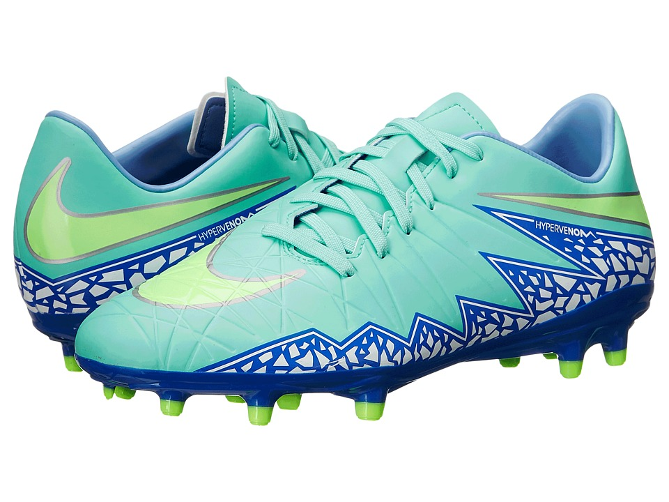 Nike - Hypervenom Phelon 2 FG (Hyper Turquoise/Racer Blue/Chalk Blue/Voltage Green) Women's Soccer Shoes
