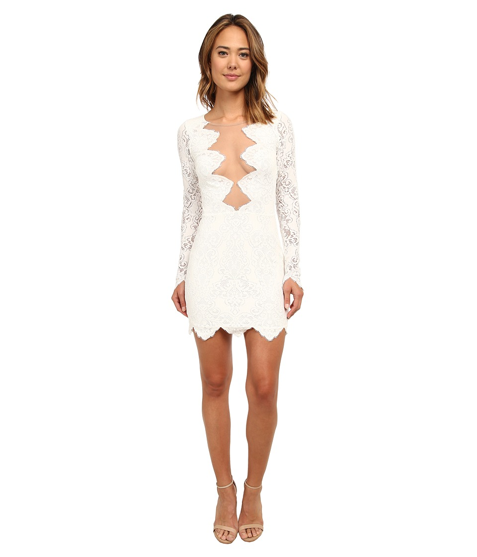 For Love and Lemons - Noir Mini Dress (White) Women's Dress