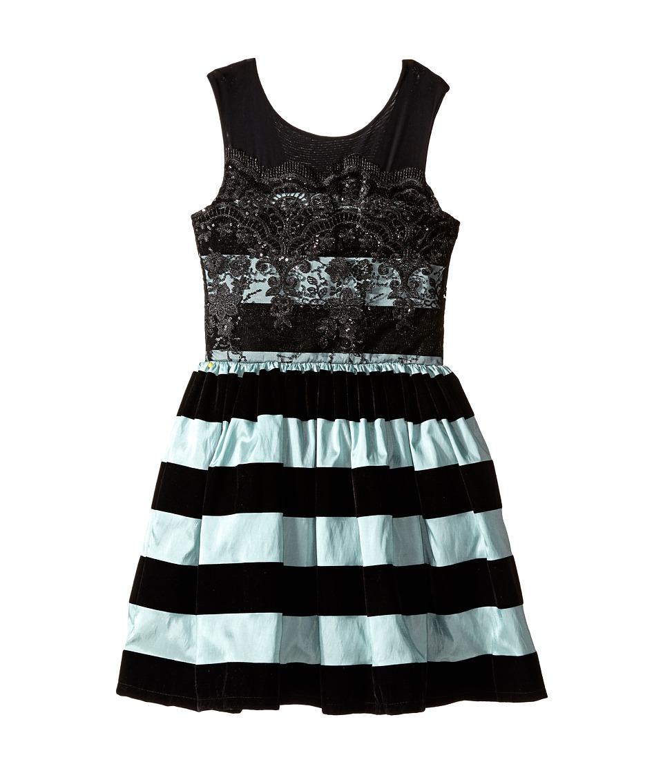 fiveloaves twofish - Mrs. Poe Dress (Big Kids) (Mint/Black) Girl's Dress