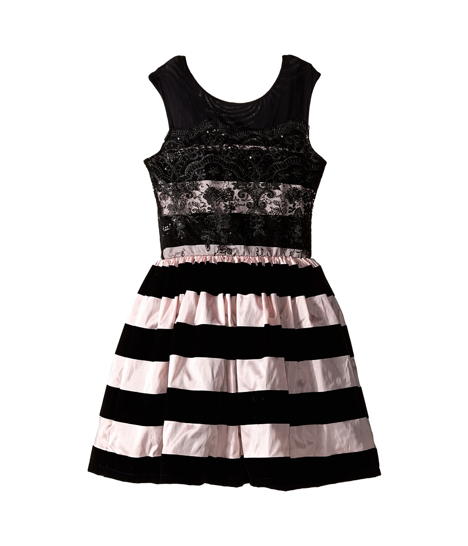fiveloaves twofish - Mrs. Poe Dress (Big Kids) (Pink/Black) Girl's Dress