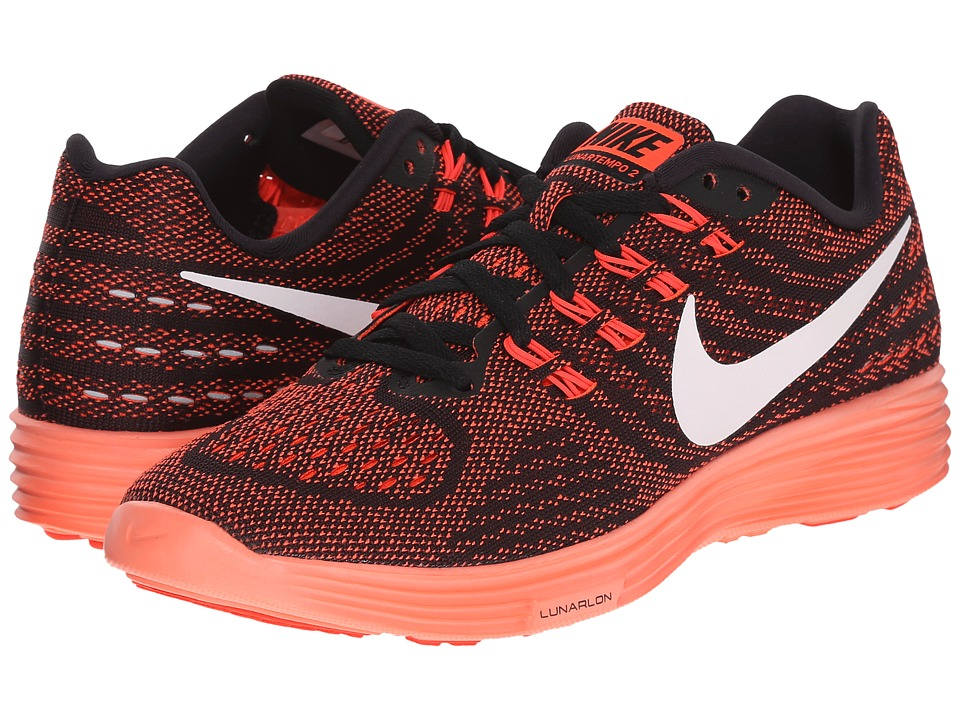 Nike - Lunartempo 2 (Bright Crimson/Black/Bright Mango/White) Women's Running Shoes