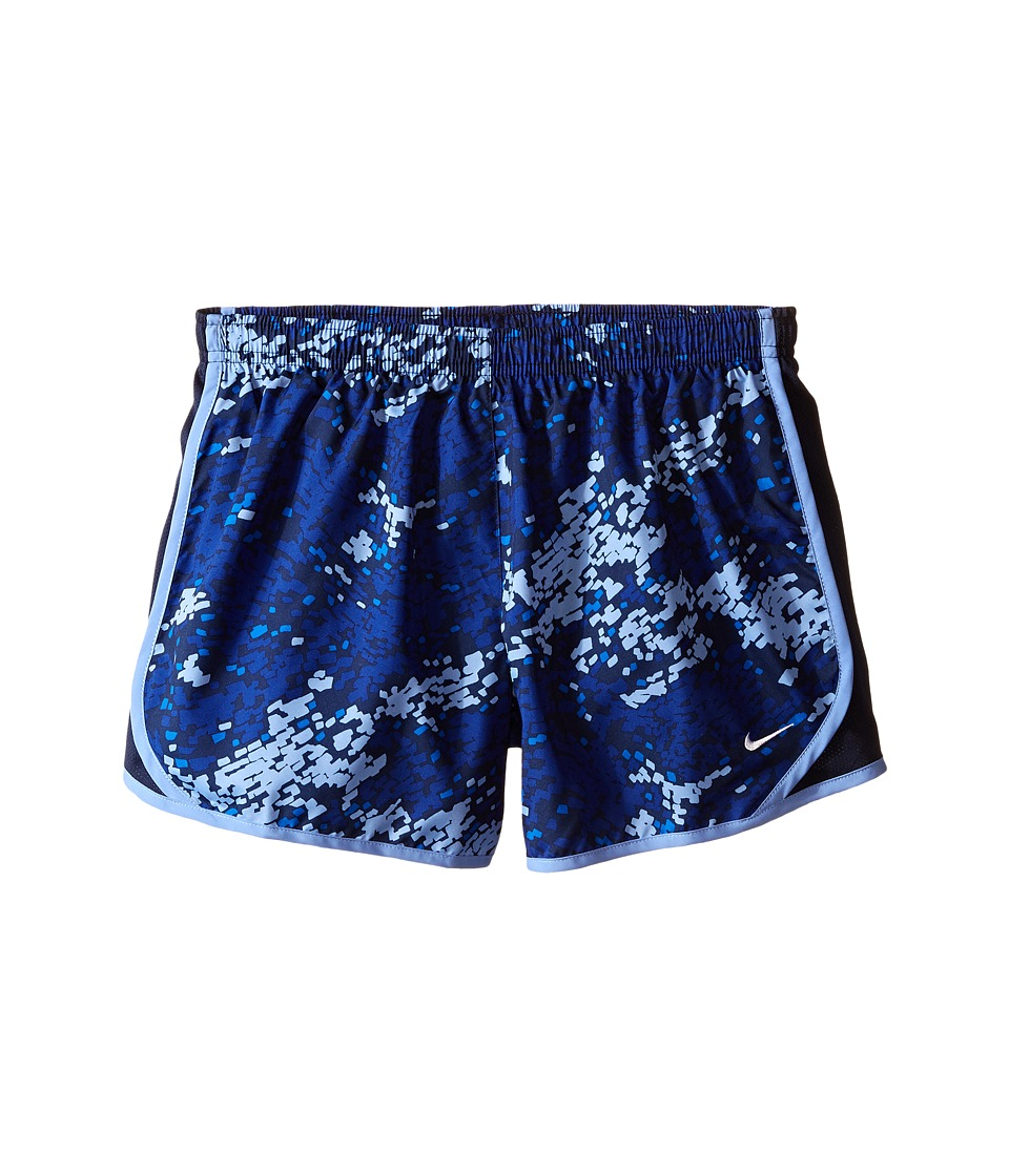 Nike Kids - Tempo Allover Print Short (Little Kids/Big Kids) (Deep Royal Blue/Obsidian/Chalk Blue/White) Girl's Shorts