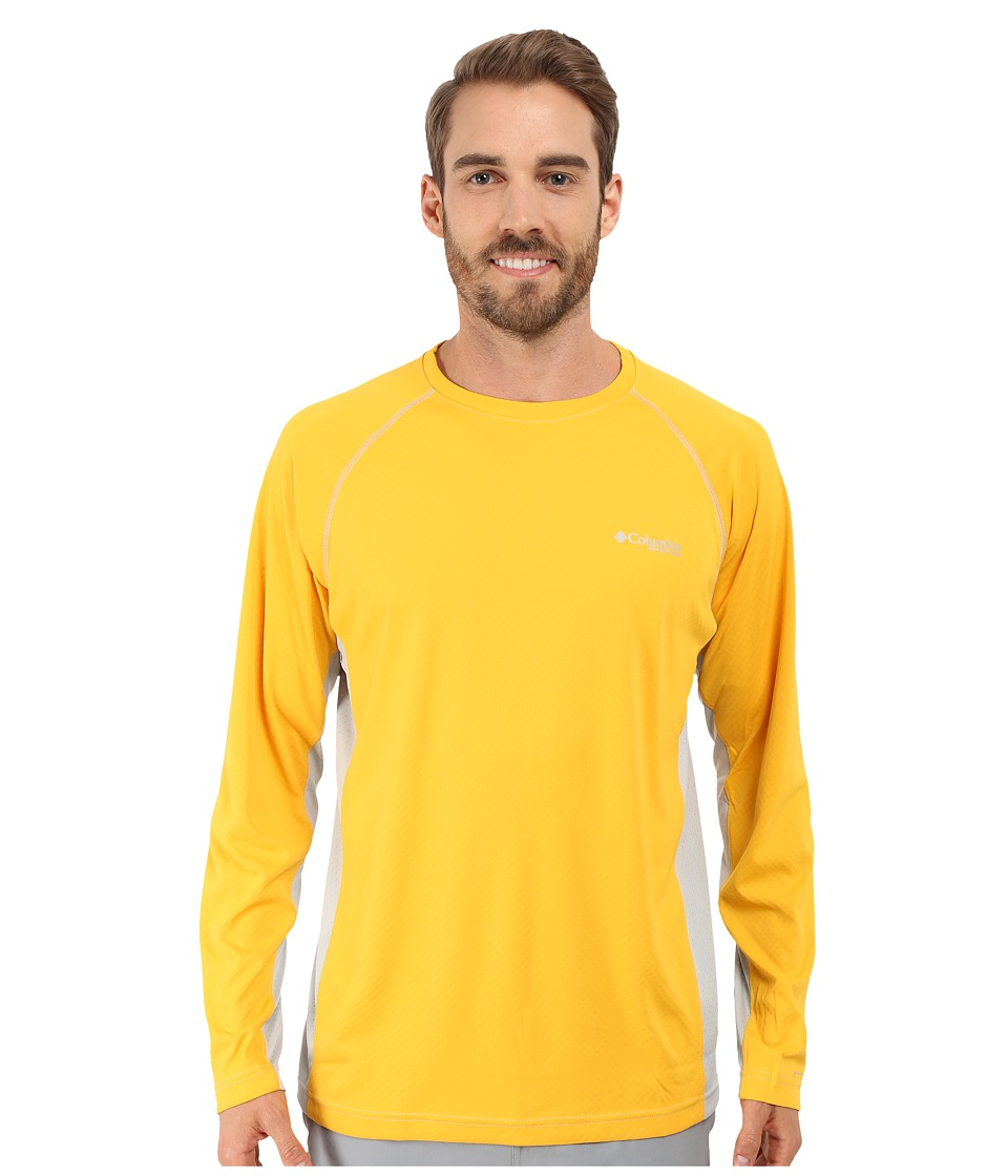 Columbia - Cast Away Zerotm Knit Long Sleeve Shirt (Stinger/Cool Grey) Men's Long Sleeve Pullover