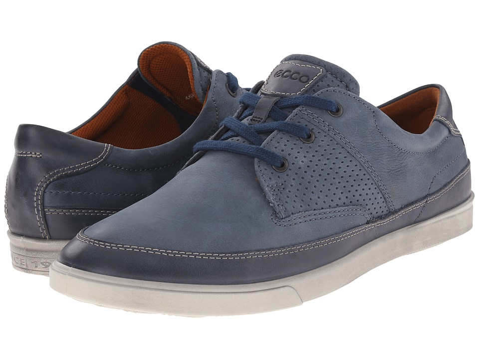 ECCO - Collin Nautical Perf (Marine/Denim Blue) Men