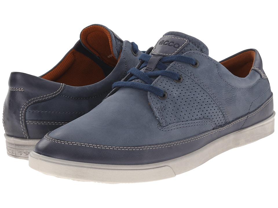ECCO - Collin Nautical Perf (Marine/Denim Blue) Men's Shoes