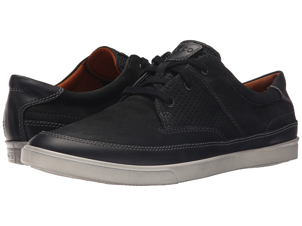 ECCO - Collin Nautical Perf (Black/Black) Men's Shoes