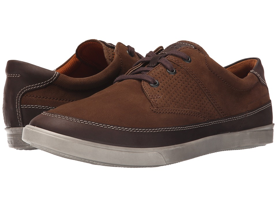 ECCO - Collin Nautical Perf (Coffee/Camel) Men