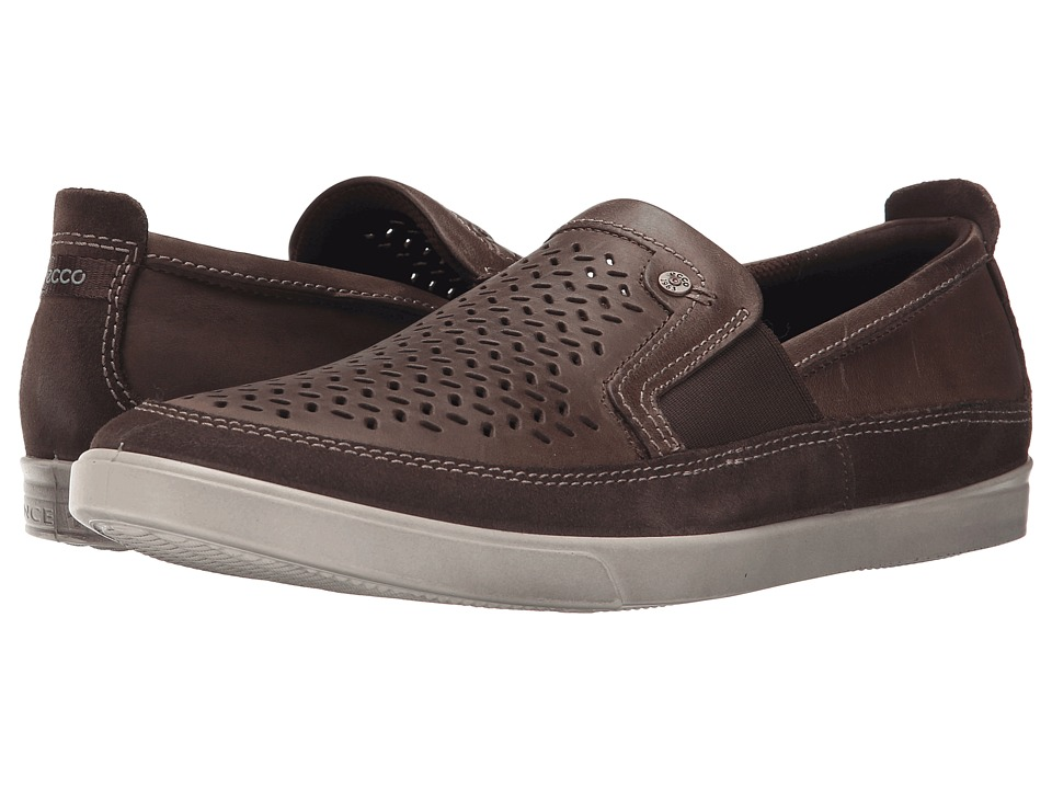 ECCO - Collin Perf Slip-On (Dark Clay/Dark Clay) Men