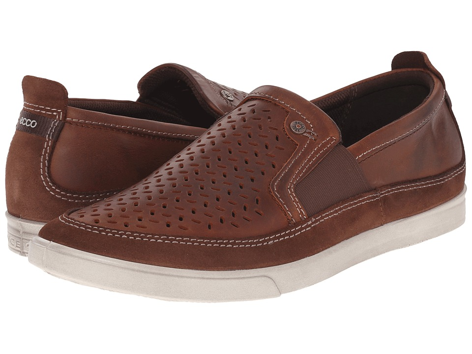 ECCO - Collin Perf Slip-On (Bison/Cognac) Men