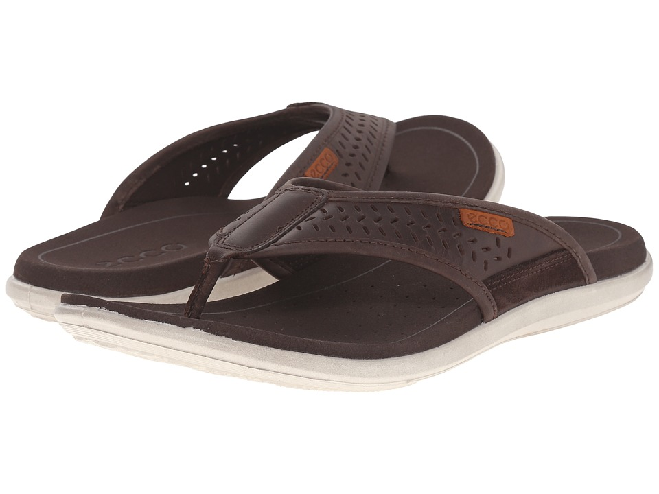ECCO - Collin Thong (Coffee/Coffee) Men's Sandals