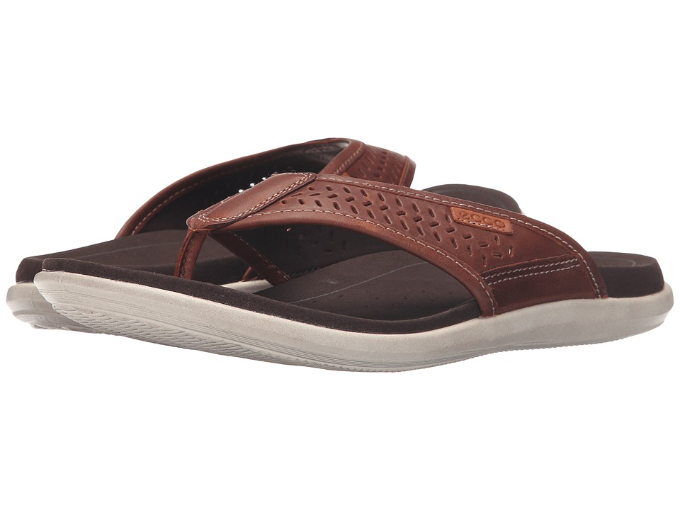 ECCO - Collin Thong (Bison/Cognac) Men