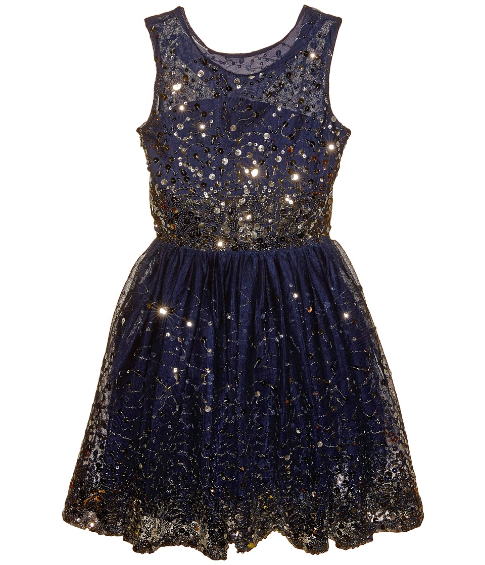 fiveloaves twofish - New Year's Eve Dress (Little Kids/Big Kids) (Navy) Girl's Dress