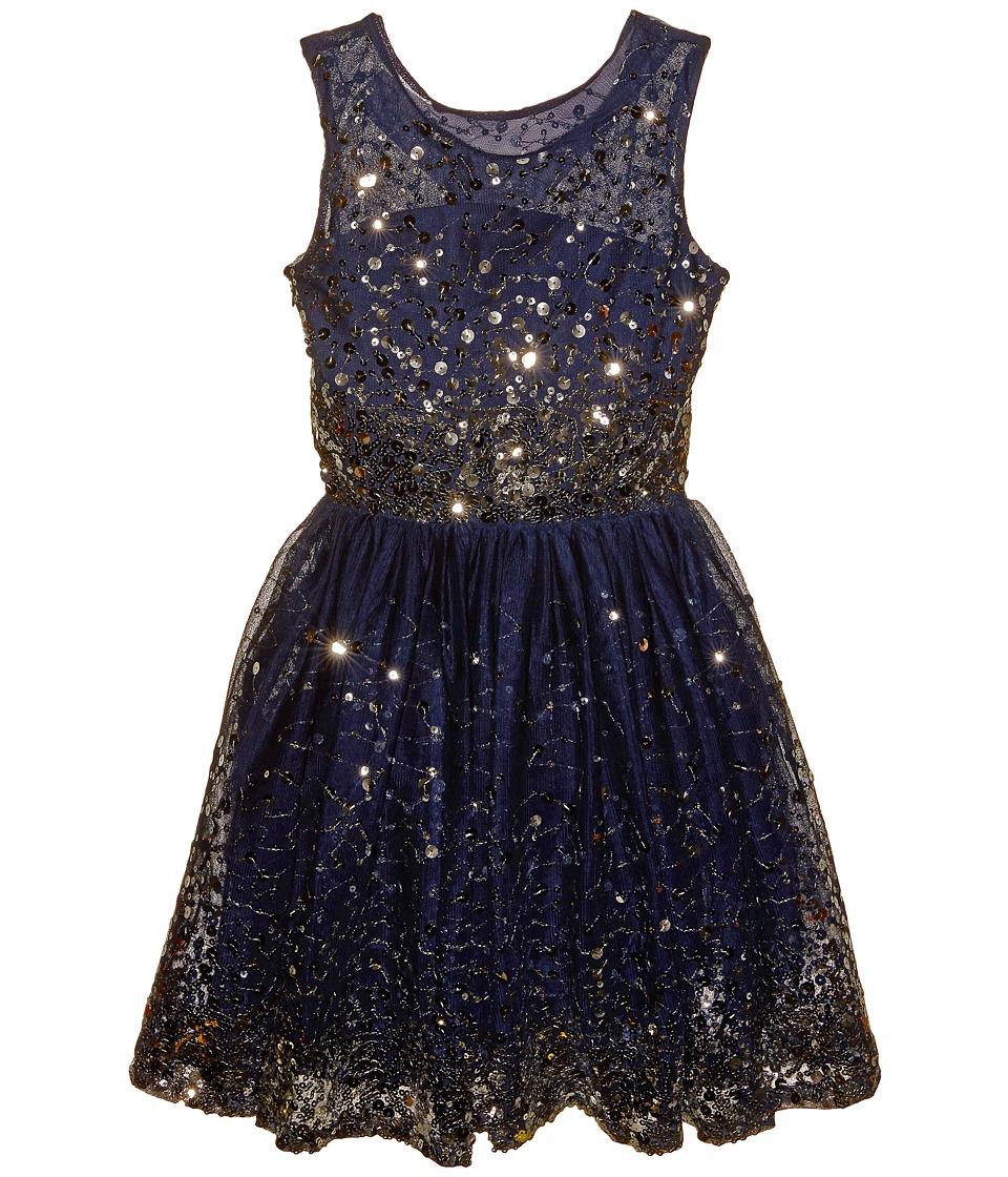 fiveloaves twofish - New Year's Eve Dress (Little Kids/Big Kids) (Navy) Girl's Dress