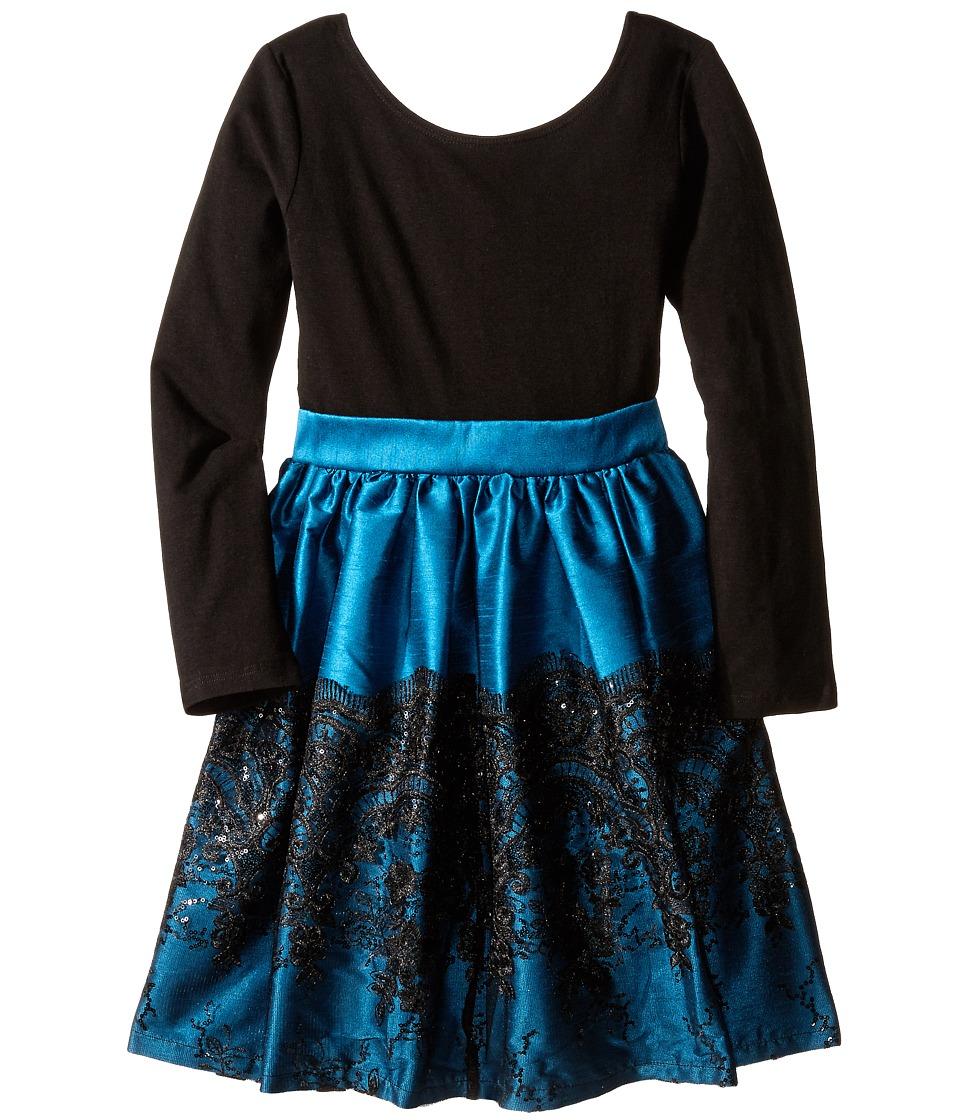 fiveloaves twofish - Bella Cora Dress (Little Kids/Big Kids) (Turquoise) Girl's Dress