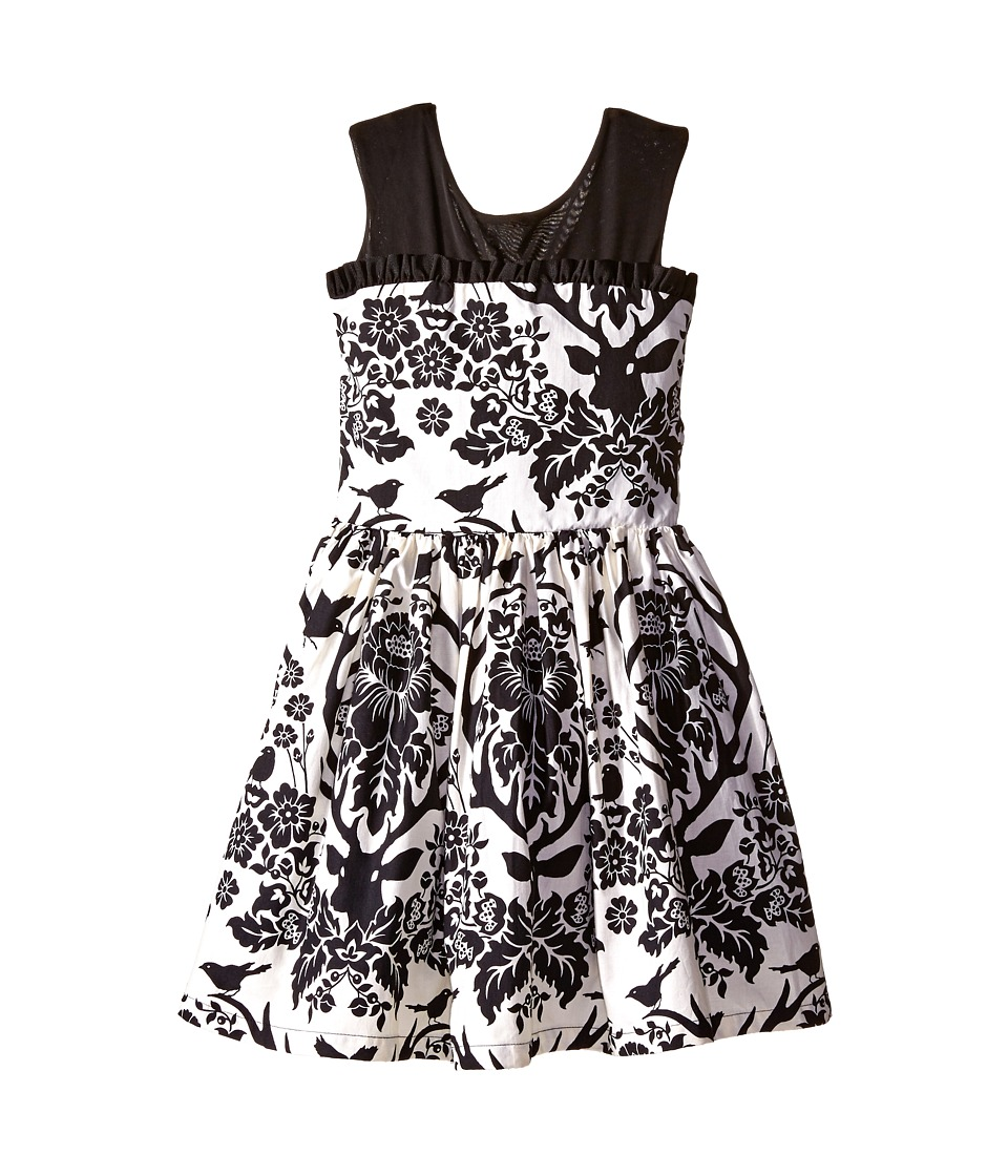 fiveloaves twofish - Oh Deer Dress (Little Kids/Big Kids) (Black/White) Girl's Dress