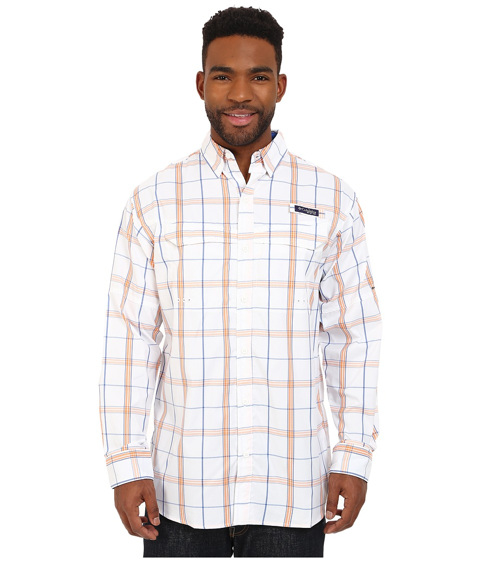 Columbia - Super Low Drag Long Sleeve Shirt (Vivid Blue Plaid) Men's Long Sleeve Button Up