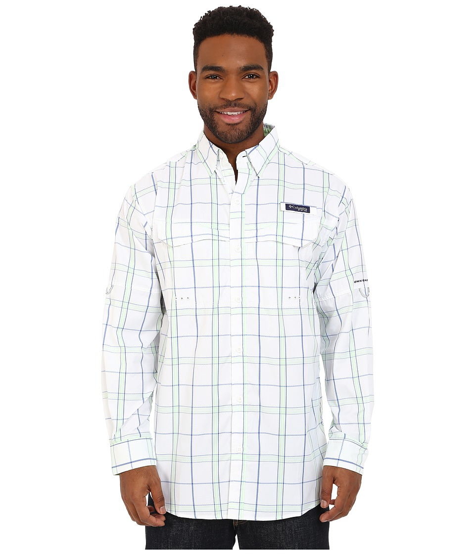 Columbia - Super Low Drag Long Sleeve Shirt (Key West Plaid) Men's Long Sleeve Button Up