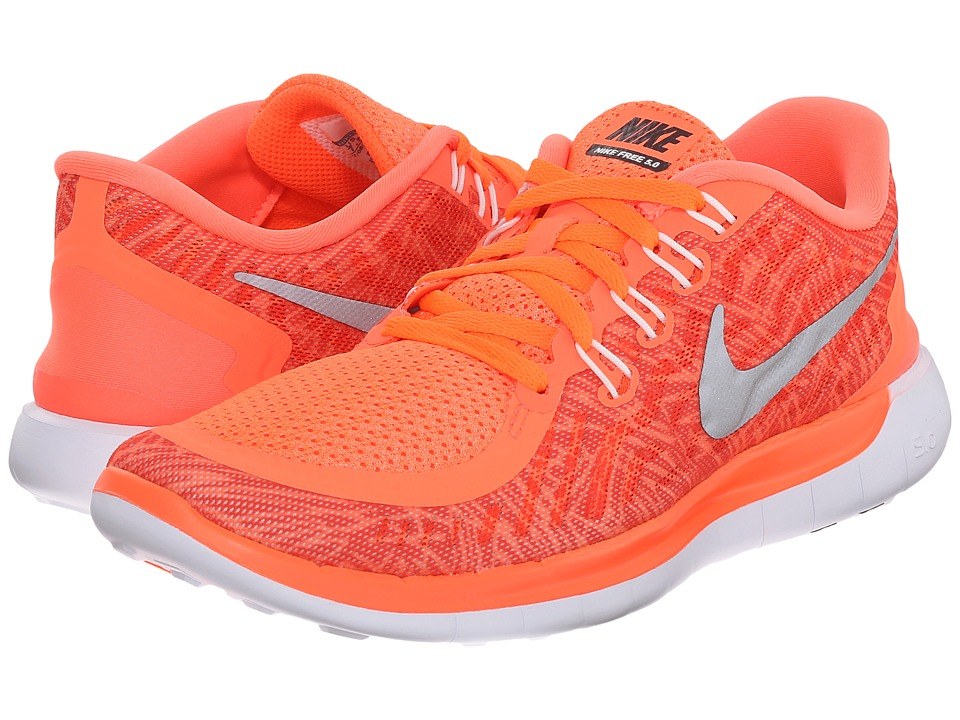 Nike - Free 5.0 Print (Hyper Orange/Sail/White/Black) Women's Running Shoes