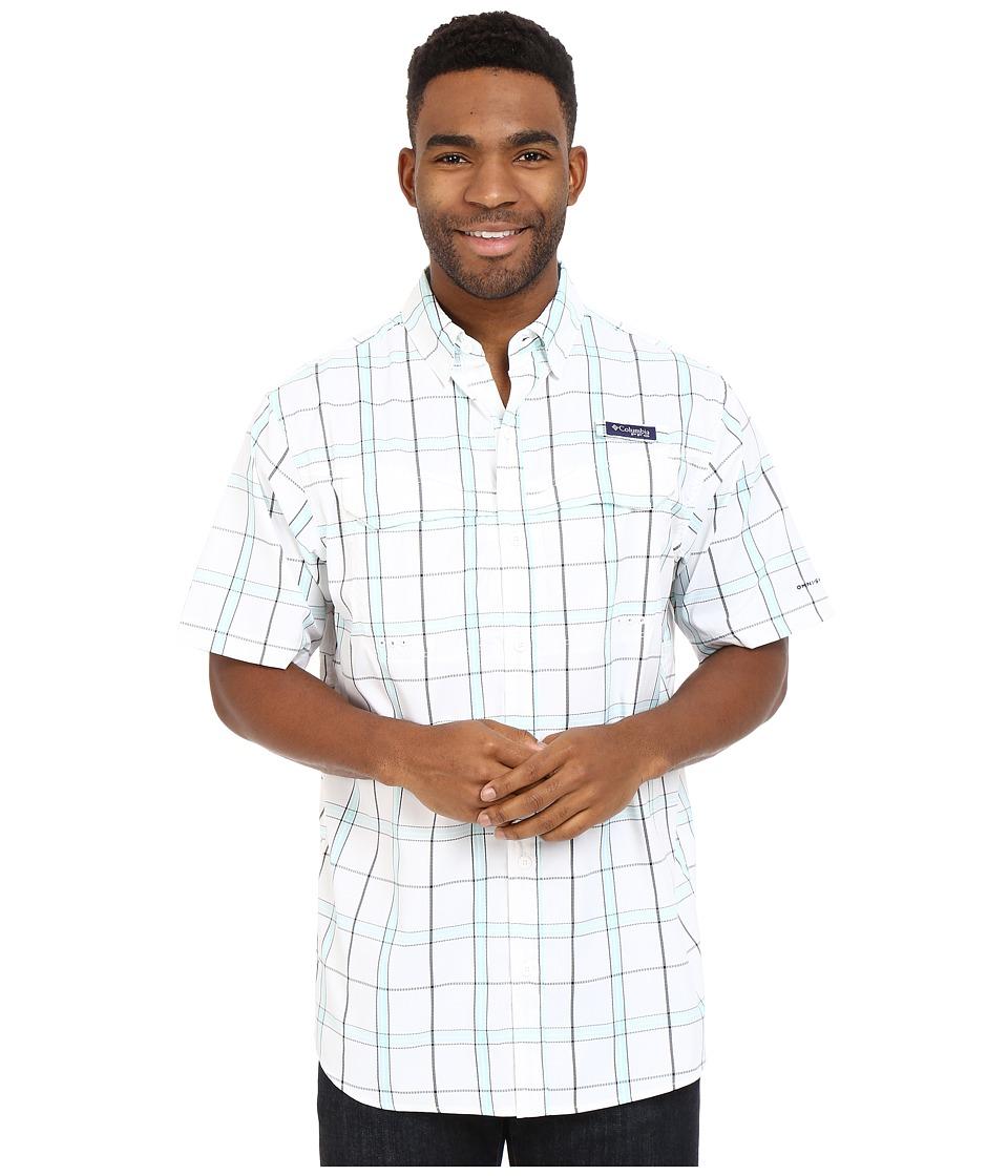 Columbia - Super Low Drag Short Sleeve Shirt (Gulf Stream Plaid) Men's Short Sleeve Button Up