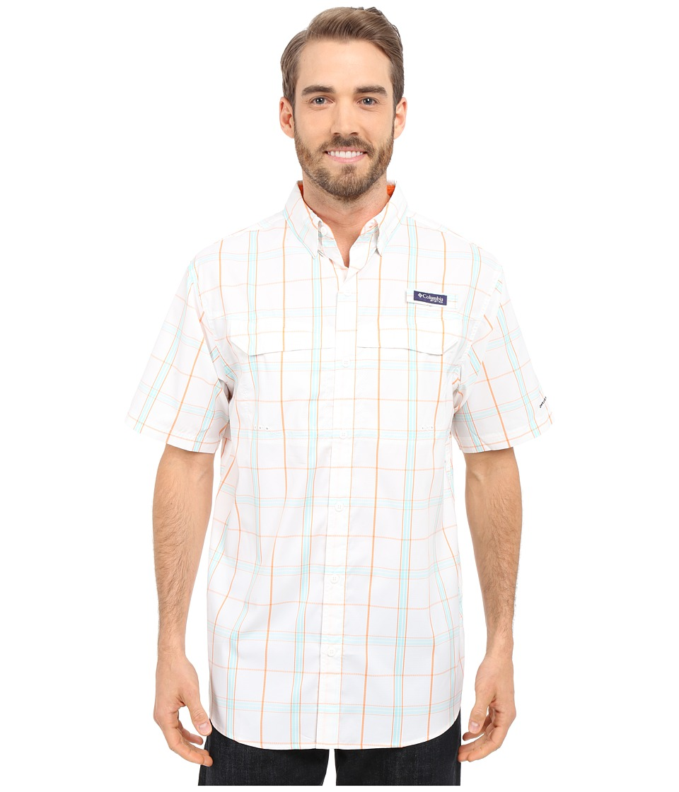 Columbia - Super Low Drag Short Sleeve Shirt (Jupiter Plaid) Men's Short Sleeve Button Up