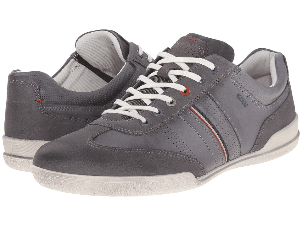 ECCO - Enrico Retro Sneaker (Moonless/Titanium) Men