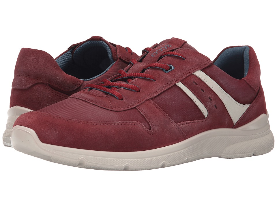 ECCO - Irondale Retro Sneaker (Port/Black) Men's Shoes