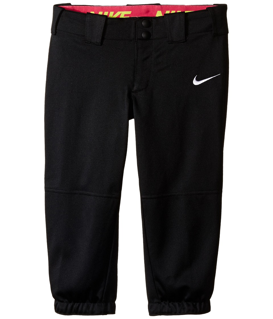 Nike Kids - Diamond Invader Softball/Baseball Pant (Little Kids/Big Kids) (Tm Black/Tm White) Girl's Casual Pants