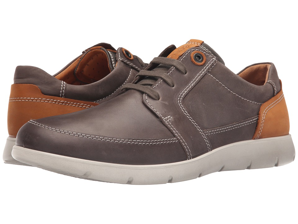 ECCO - Iowa Tie (Stone/Lion) Men's Lace up casual Shoes