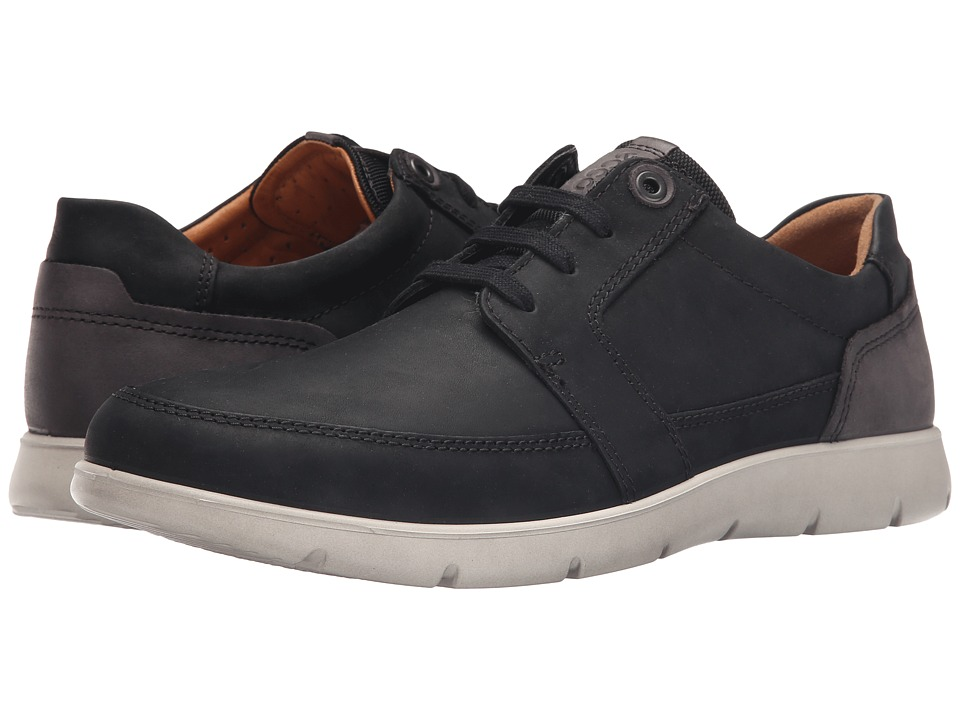 ECCO - Iowa Tie (Black/Licorice) Men's Lace up casual Shoes