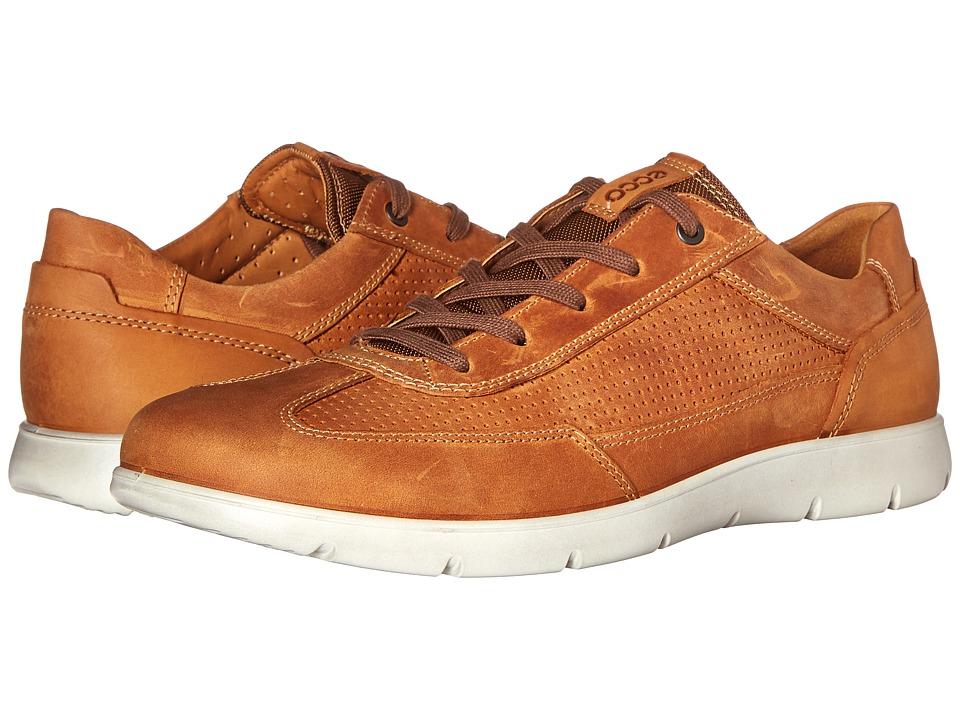 ECCO - Iowa Perf Tie (Amber/Lion) Men's Shoes