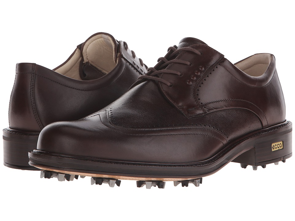 ECCO Golf - New World Class (Cocoa Brown/Cocoa Brown) Men's Lace Up Wing Tip Shoes