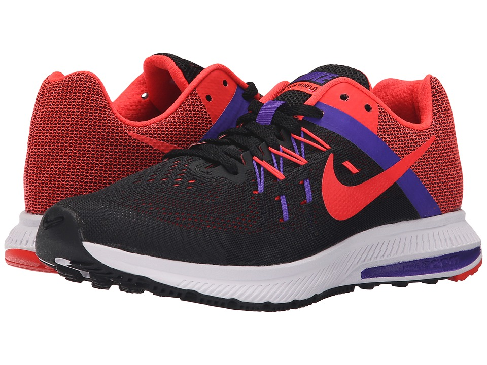 Nike - Zoom Winflo 2 (Black/Fierce Purple/White/Bright Crimson) Women's Running Shoes