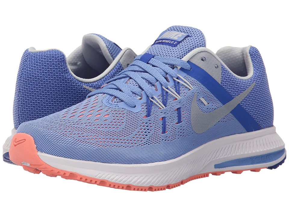 Nike - Zoom Winflo 2 (Chalk Blue/Racer Blue/Atomic Pink/Metallic Platinum) Women's Running Shoes