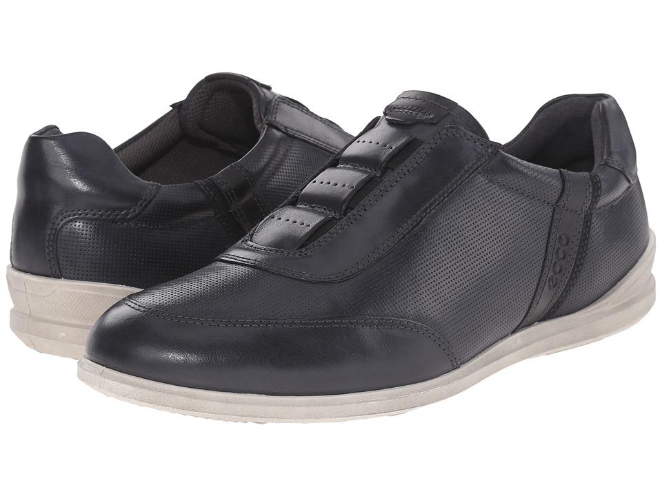 ECCO - Chander Classic Slip-On (Black/Black) Men's Shoes
