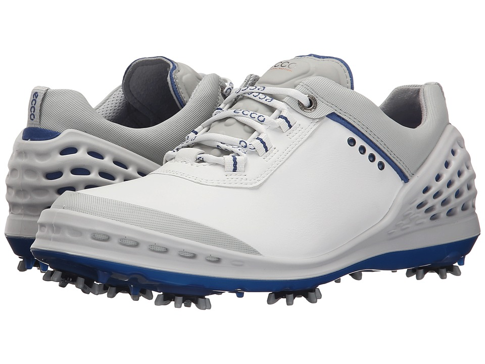ECCO Golf - Cage (White/Royal) Men's Shoes