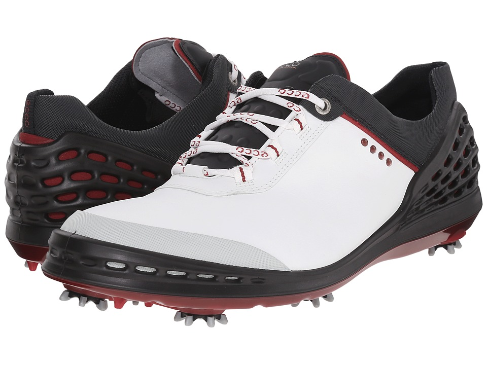 ECCO Golf - Cage (White/Black) Men's Shoes
