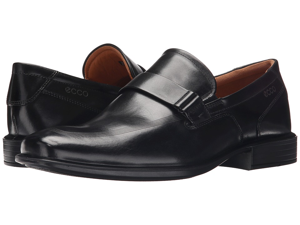 ECCO - Cairo Apron Toe Slip-On (Black) Men's Shoes
