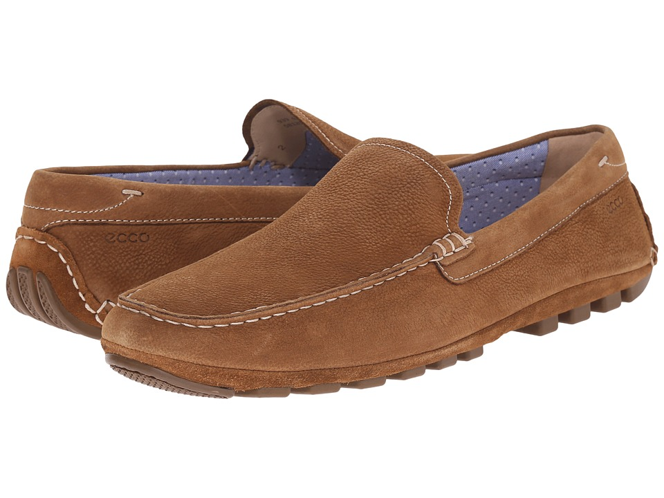 ECCO - Summer Moc (Camel/Camel) Men's Shoes