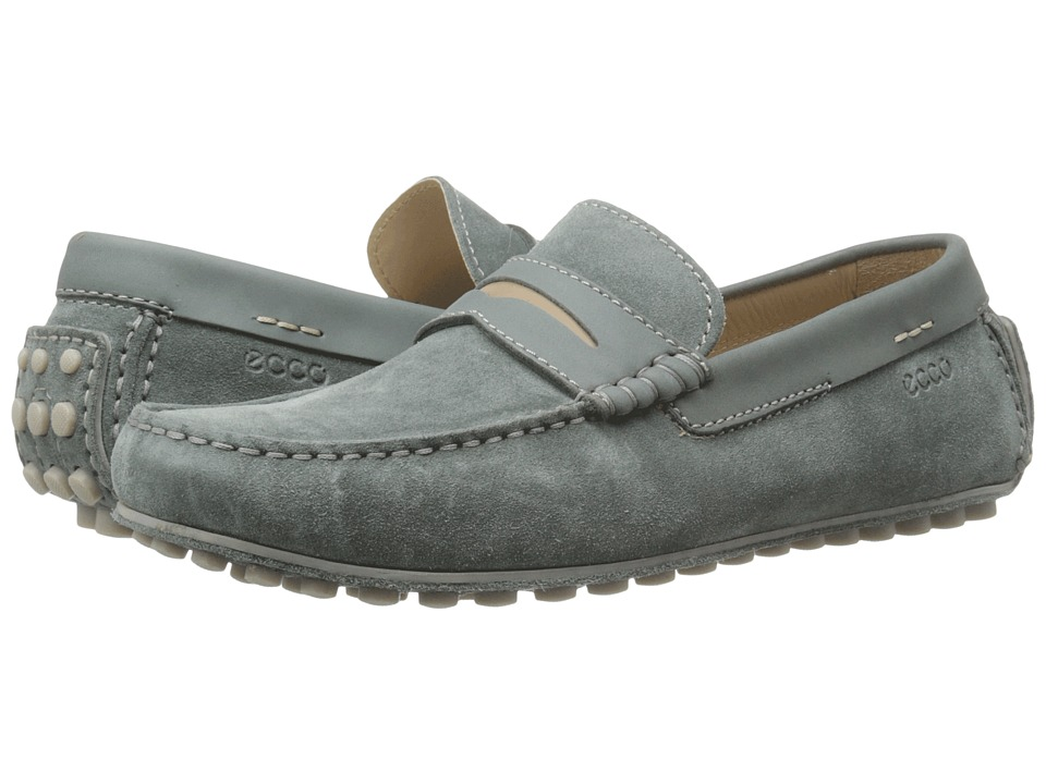 ECCO - Dynamic Moc (Moon/Moon/Navajo Brown) Men's Slip on Shoes