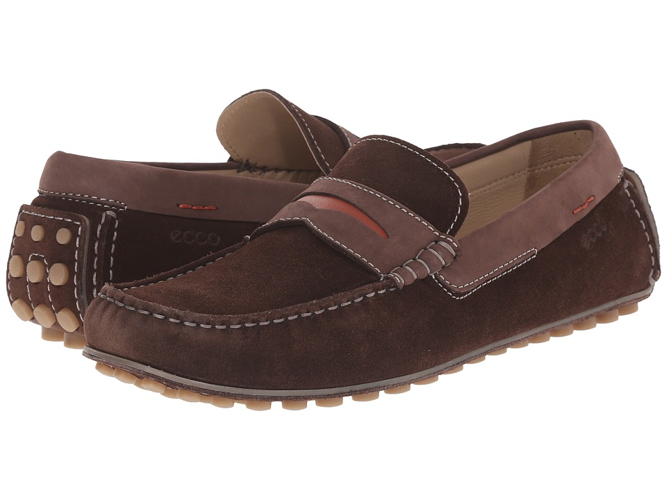 ECCO - Dynamic Moc (Mocha/Mocha/Picante) Men's Slip on Shoes