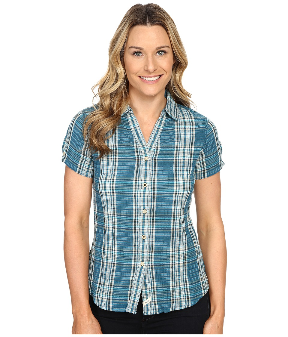 Woolrich - Carrabelle S/S Shirt (Seaport) Women's Short Sleeve Button Up