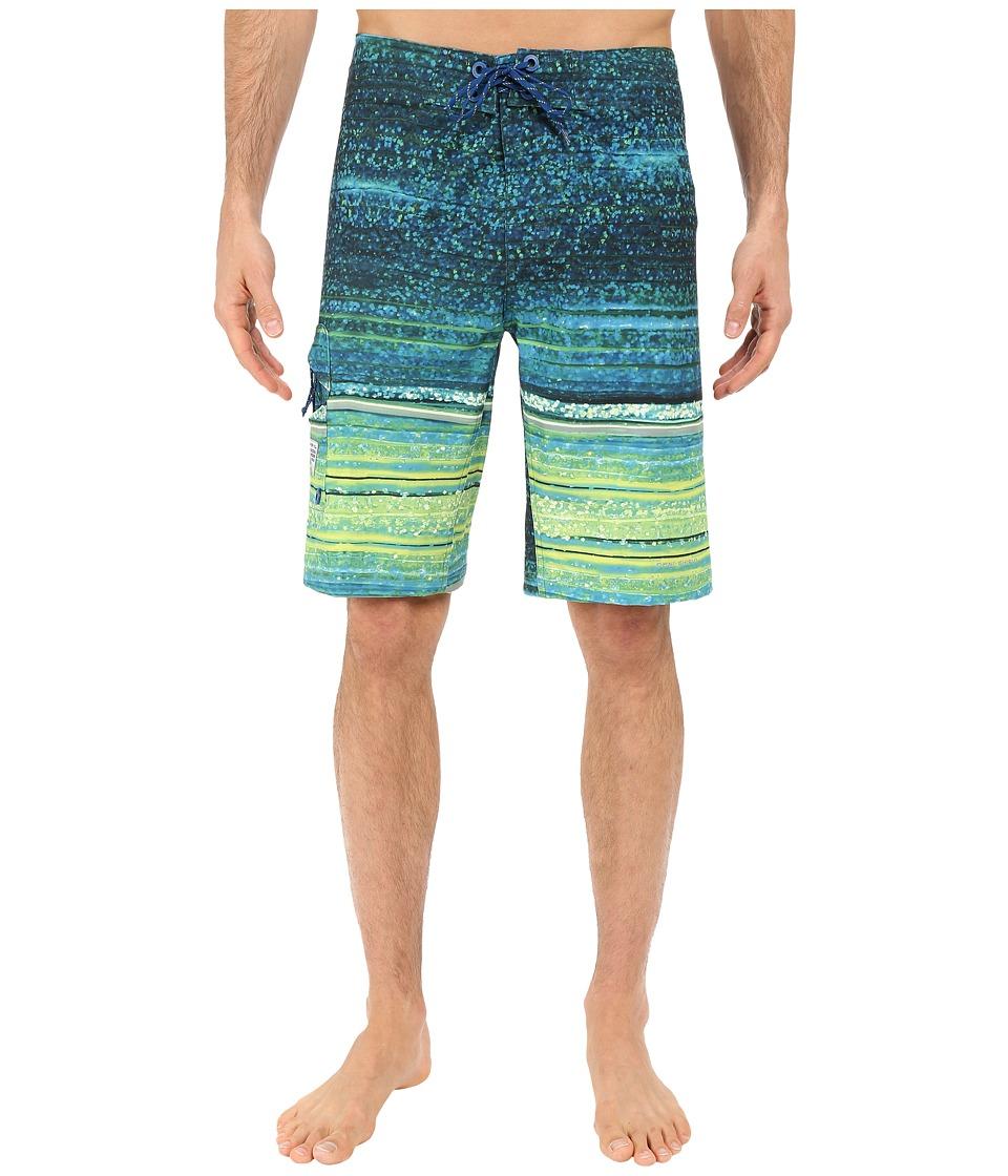 Columbia - PFG Offshore Boardshort (Marine Blue Lure Print) Men's Swimwear