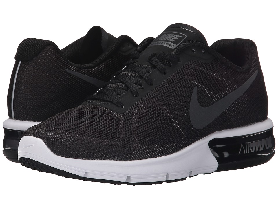 Nike - Air Max Sequent (Black/Wolf Grey/White/Metallic Hematite) Women's Running Shoes