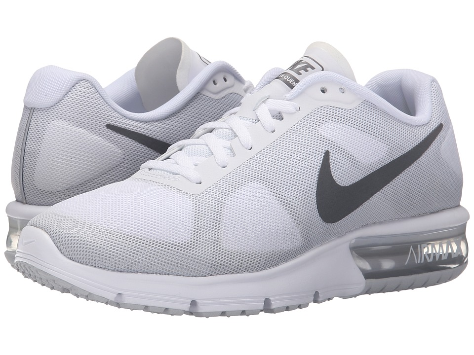Nike - Air Max Sequent (White/Cool Grey/Pure Platinum/Metallic Dark Grey) Women's Running Shoes