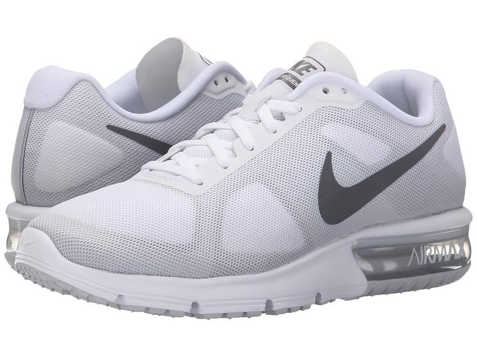 Nike - Air Max Sequent (White/Cool Grey/Pure Platinum/Metallic Dark Grey) Women's Running Shoes